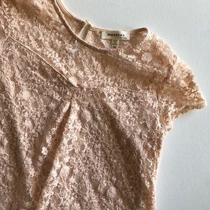 Pink/Nude Lace Top